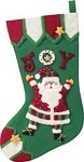 Joy Santa Stocking