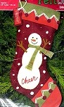 Snowman Cheer Stocking