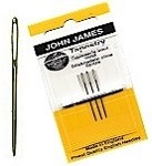 John James Gold Plated Needles Size 26 - 3 pack
