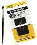 John James Gold Plated Petites Tapestry Needles - 3 pack