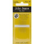 John James Ball Point Bead Embroidery Needles - Size 10