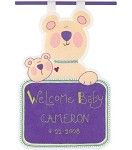 Welcome Baby Birth Date Banner