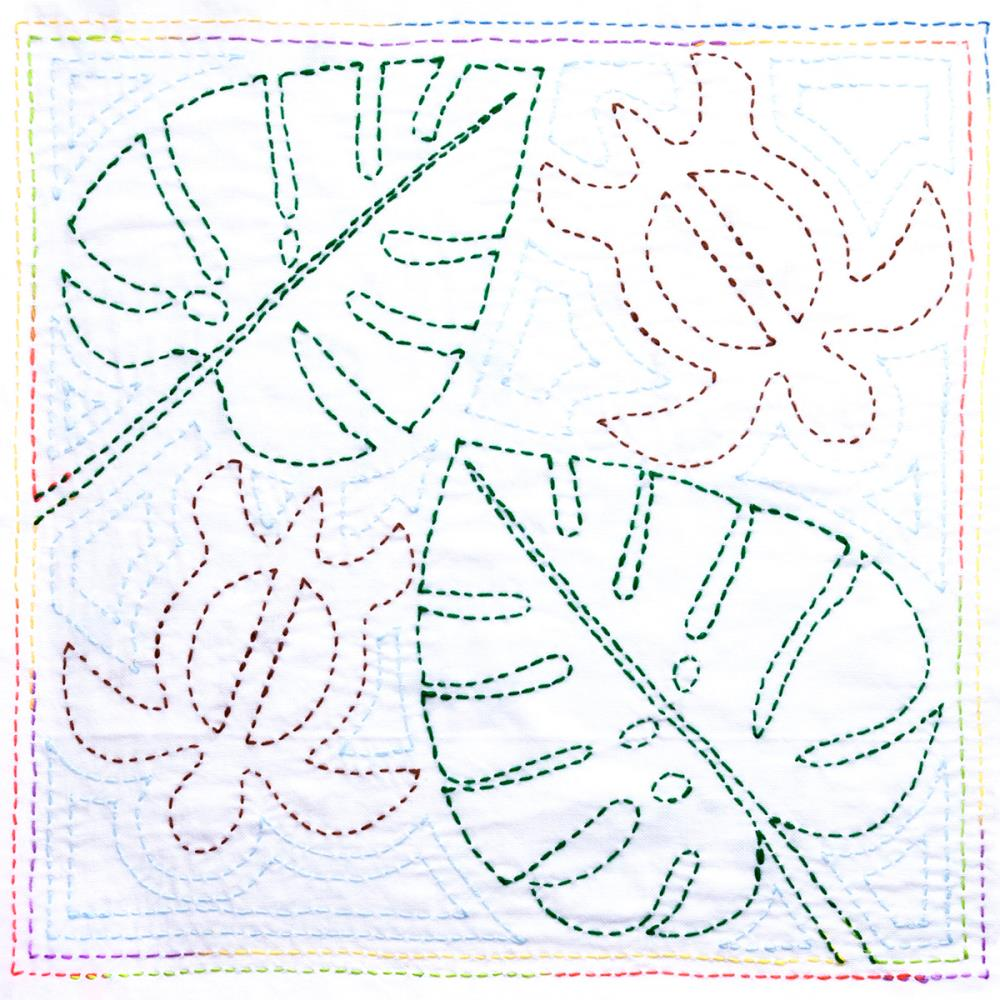 Sashiko World Hawaii Stamped Embroidery Kit Honu (turtle)