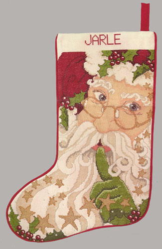 Santa and Stars Stocking