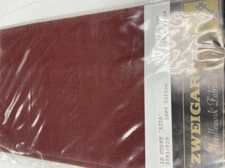 Aida - 18ct - Burgandy - Fat Quarter