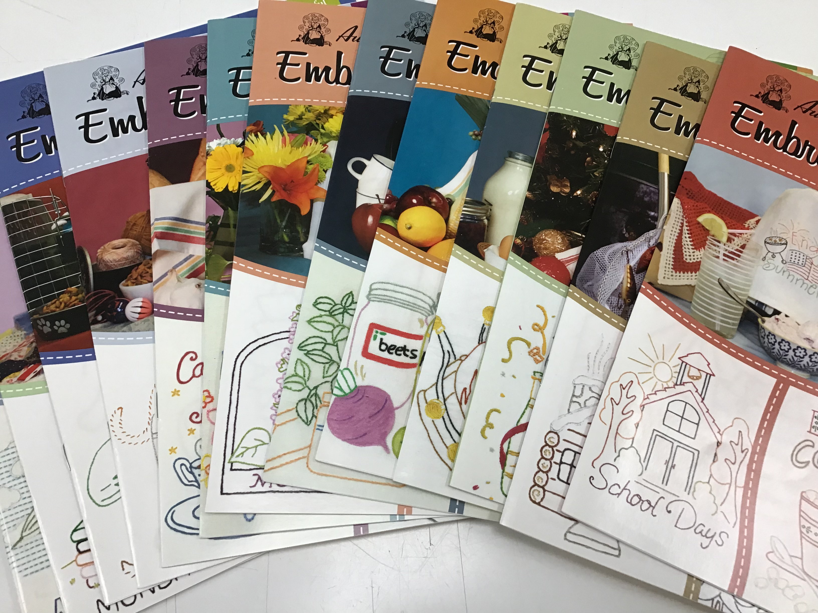 Aunt Martha's Embroidery Iron On Pattern books