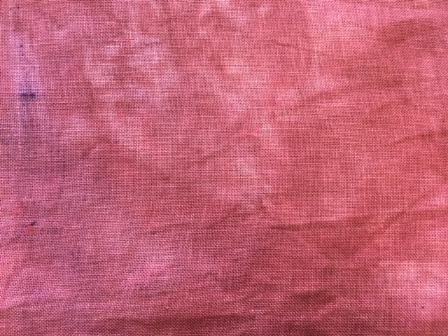 Linen - 28ct - Hand-dyed fushia - Fat Quarter