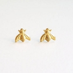 Gold Finish Bumble Bee Charm