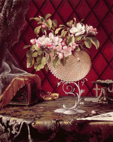 Still Life with Apple Blossoms in a Nautilus Shell
