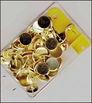 Brass thumbtacks and remover