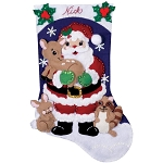Felt Christmas Stocking Applique Kit 16