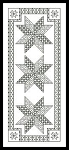 Blackwork Bookmark 4