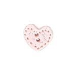 Pink Lacy Heart Button - SB363PKXL
