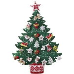 Nordic Christmas Tree Advent Calendar