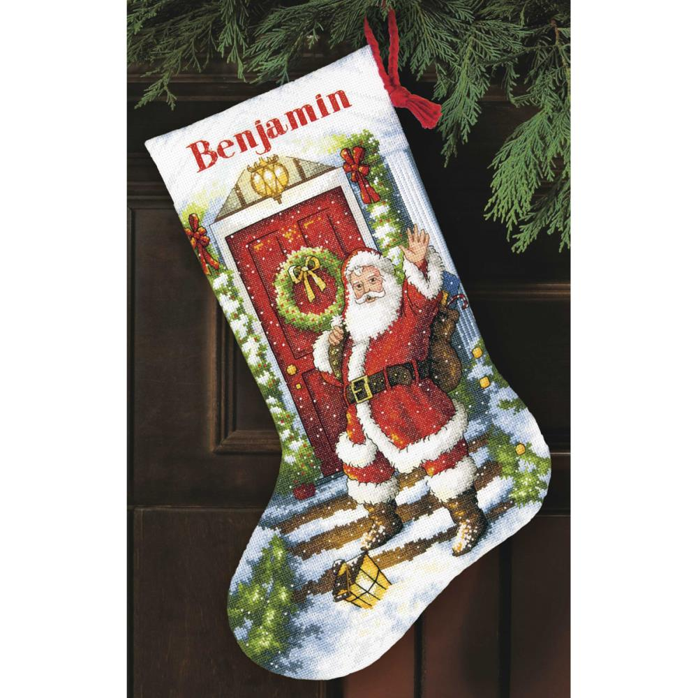 Welcome Santa Stocking